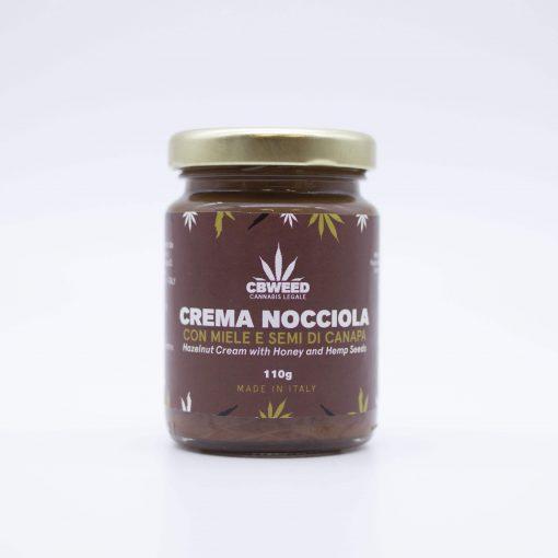 Crema nocciola con miele e semi di Canapa
